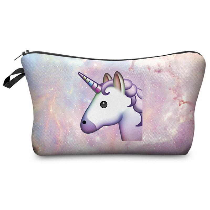 Unicorn Flamingo 3D Printing Cosmetic Makeup Bag Travel Handbag for Girls Women - Pattern 1