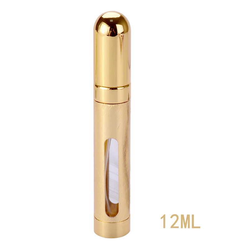 12ml Perfume Atomizer Atomiser Spray Bottle Pump Travel Refillable Scent - Golden