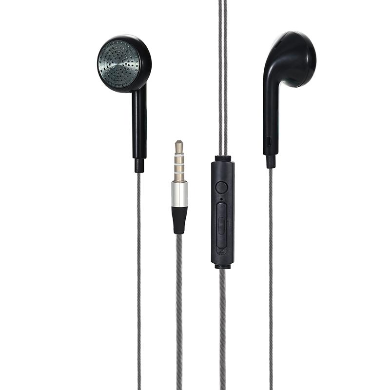 EM-09 Universal 3.5mm In-ear Wired Earphone Earbud Headset - Black