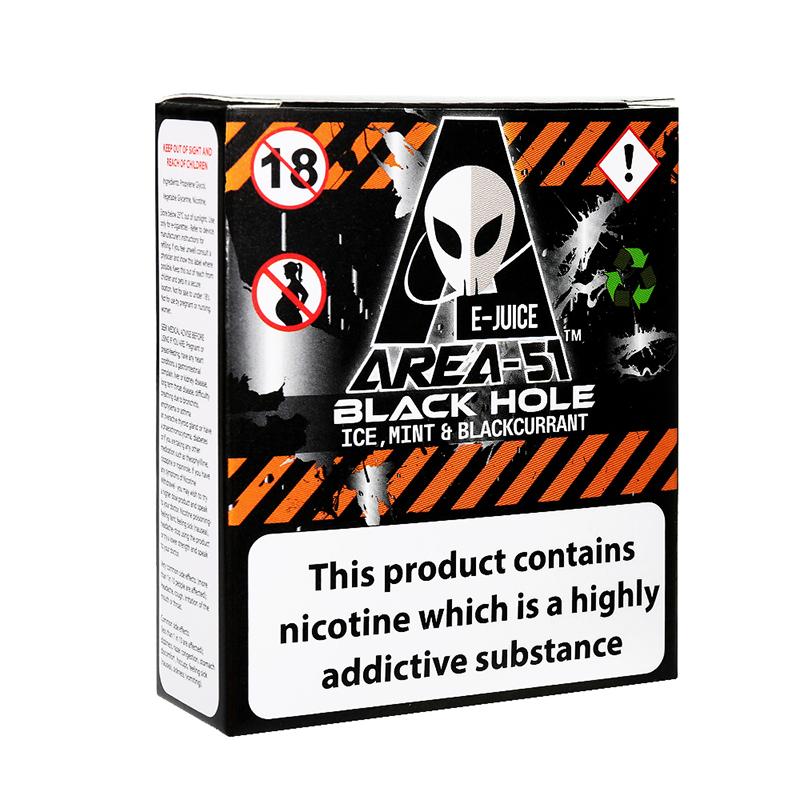 Area 51 Eliquid Vaping Juice-Black Hole Flavours-6mg-3x10ml