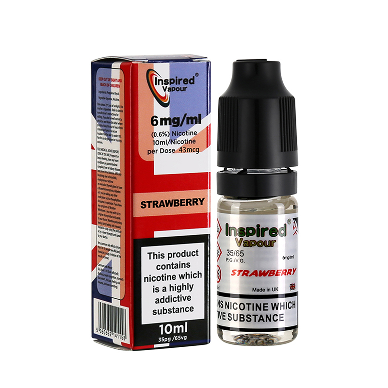 Inspired-Strawberry Flavours E-Liquid-6mg-10ml