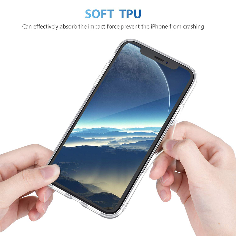 Ultra-Thin Clear Soft TPU Case Slim Crystal Silicone Shockproof Back Cover for iPhone XR