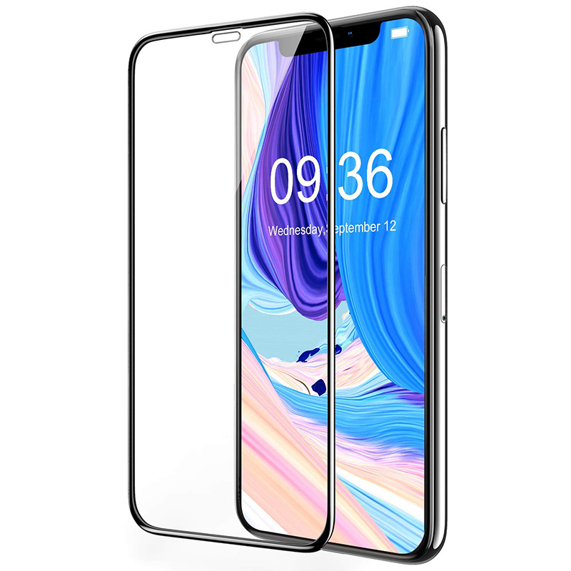 Full Coverage 2.5D Curved Tempered Glass Screen Protector Film for iPhone XS Max