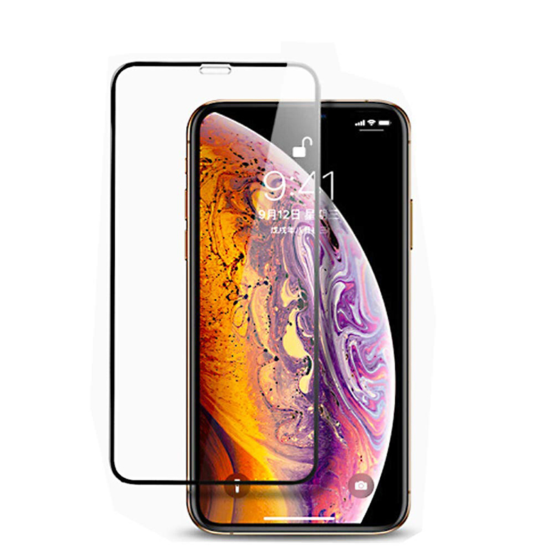 2.5D Edges 9H Full-Coverage Screen Protector Film Tempered Glass for iPhone X/XS/11 Pro