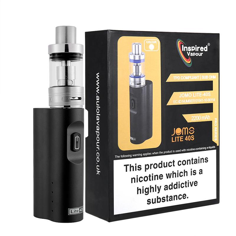 UK E-cig Starter Kit Lite 40s E-Cigarette Kit - Black