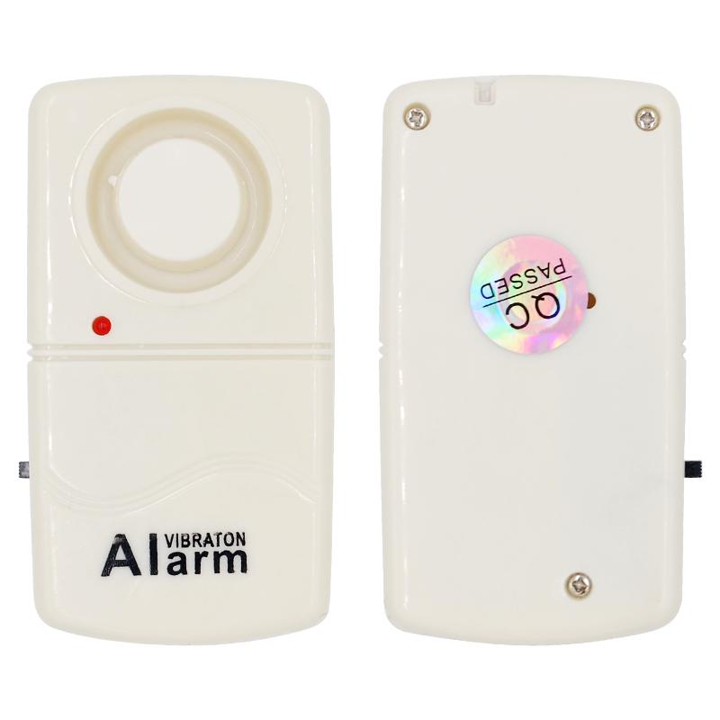 Mini Anti-Theft Alarm Sensor Detector 120dB Voice Burglar Security System for Home Car - White