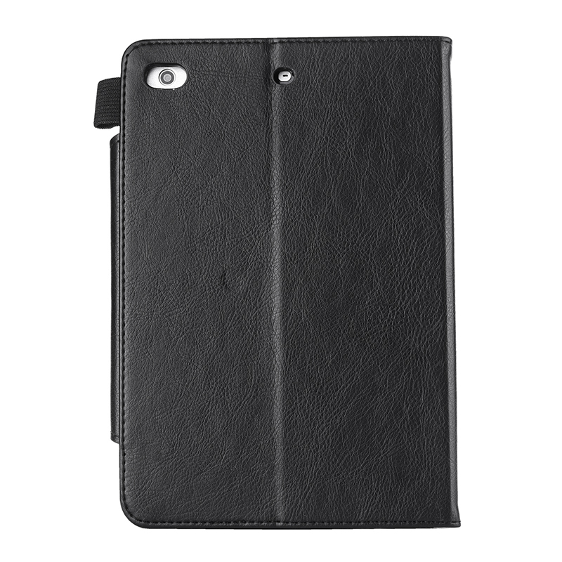 Luxury Vintage Full Coverage PU Leather Case Cover with Wallet Stand Function for iPad Mini 2/3/4 - Black