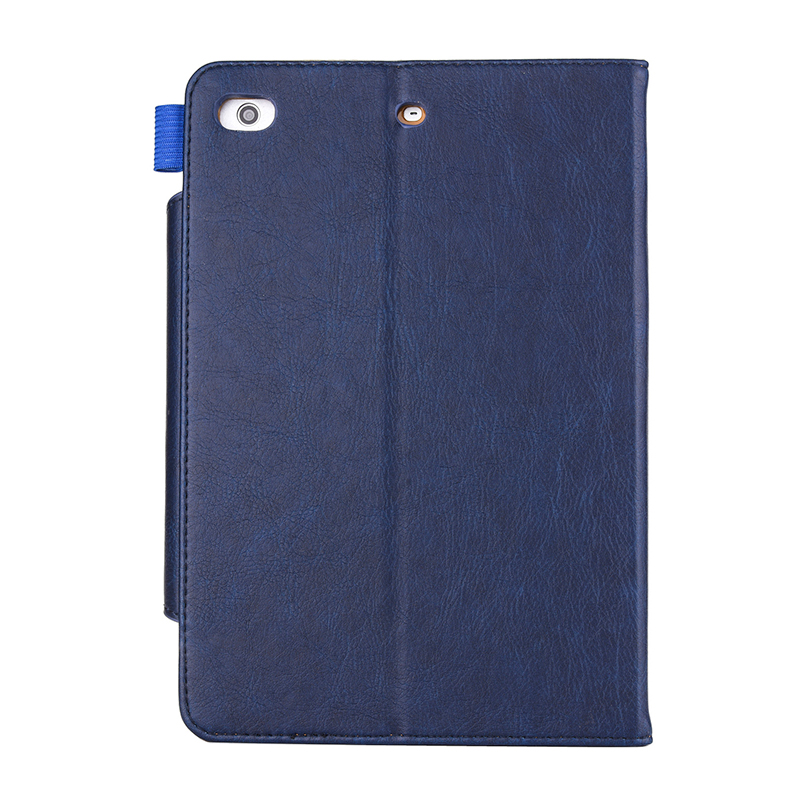 Luxury Vintage Full Coverage PU Leather Case Cover with Wallet Stand Function for iPad Mini 2/3/4 - Blue