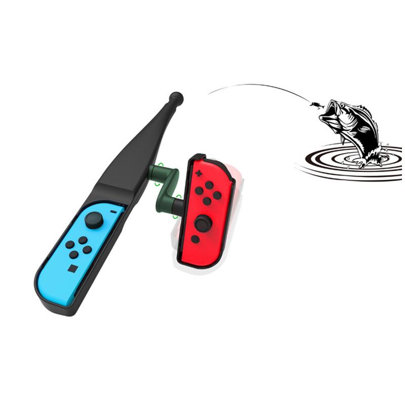Fishing Rod Pole Handle Joypad Stand Holder for Nintend Switch Joy-con