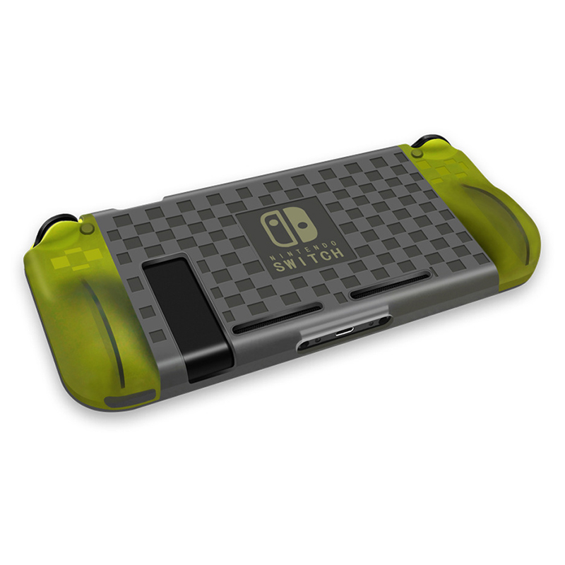 Nintend Switch Anti-Scratch Drop Protection TPU Silicone Case Cover - Transparent Grey