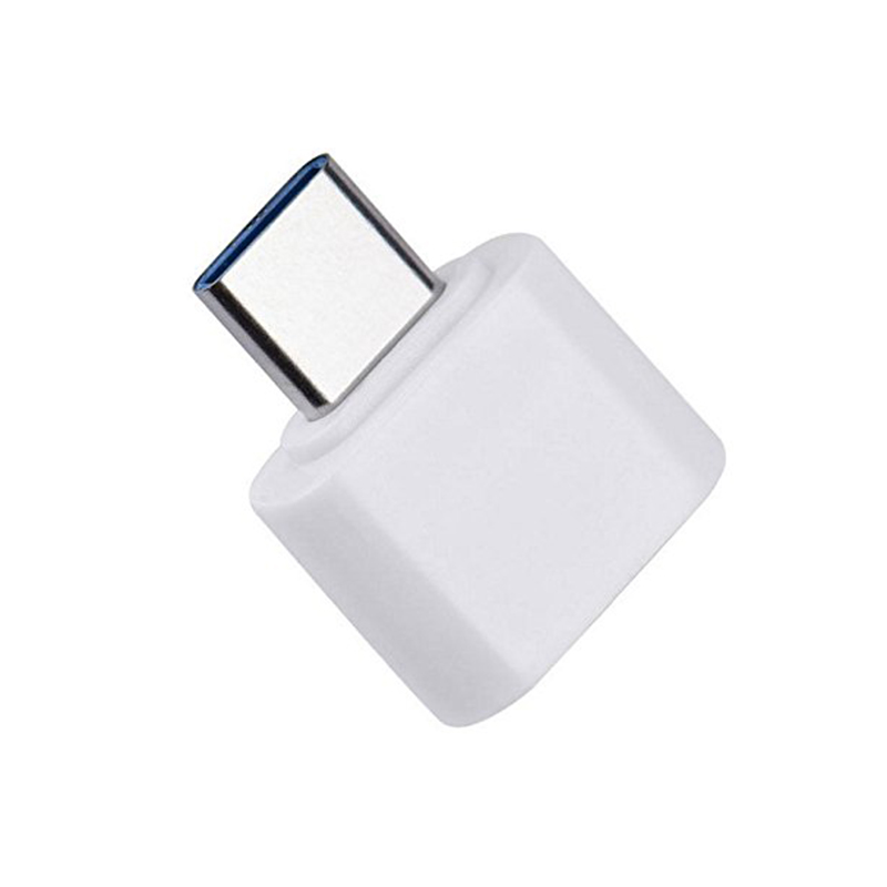USB 3.1 Type-C Male to USB 2.0 Female OTG Adapter Converter - White
