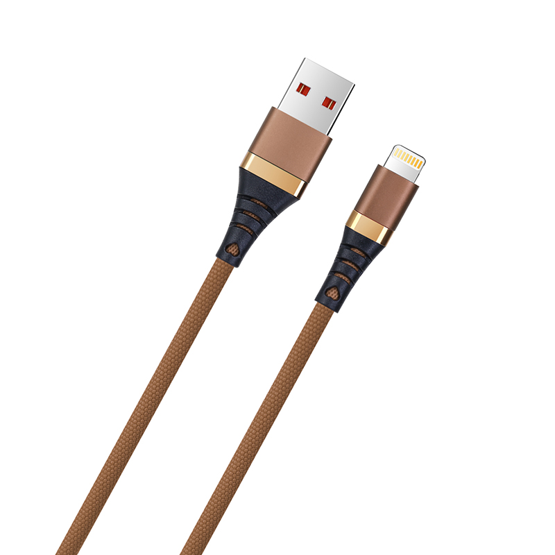 1M iPhone Cable Cord Braided Woven Lightning Charging Data Sync Line Wire - Brown