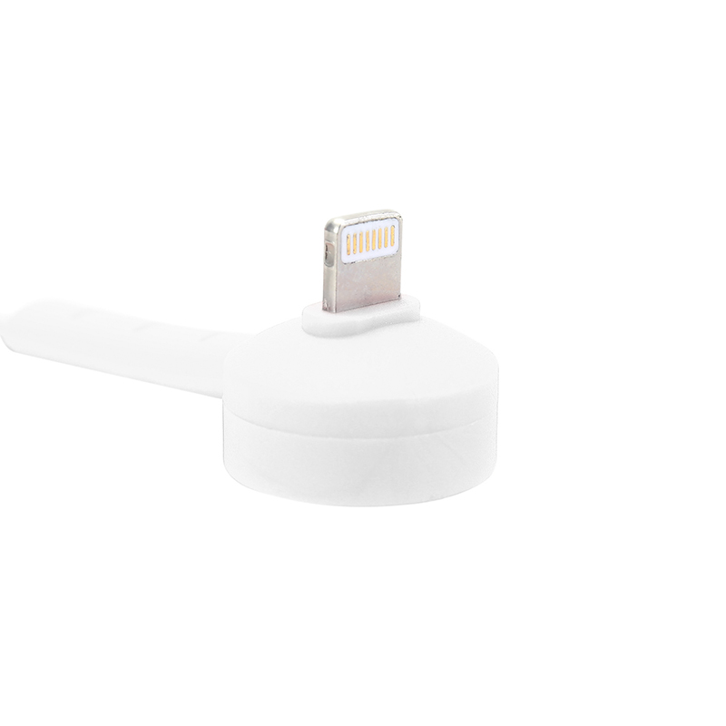 Stylish Designed Lightning Charging Cable with Stand Function for iPhone iPad - White