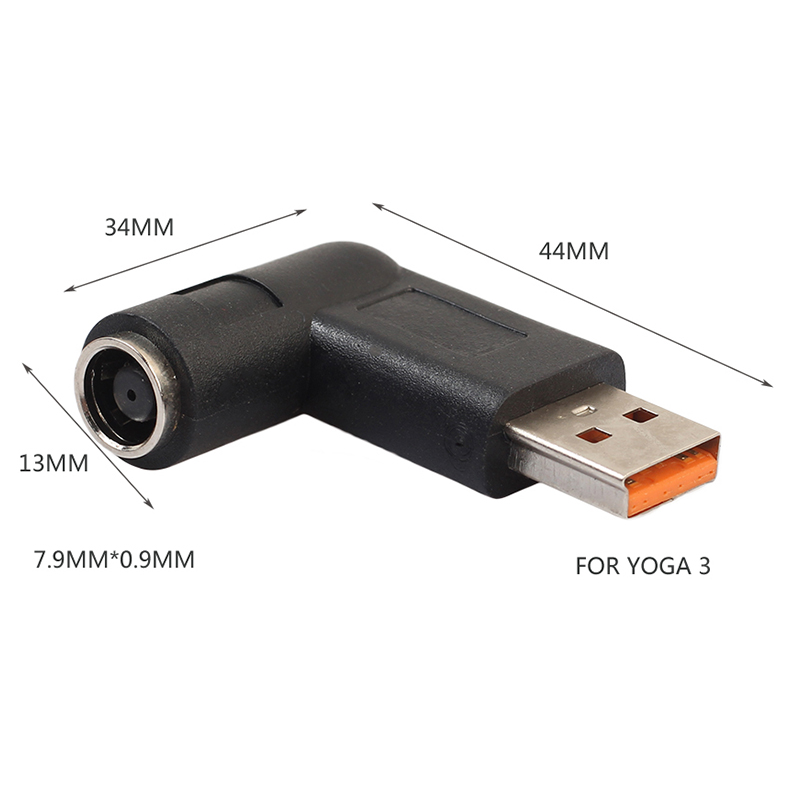 DC Power 5.5x2.1mm Converter Adapter Plug DC Female to USB Male Connector for Lenovo Yoga 3