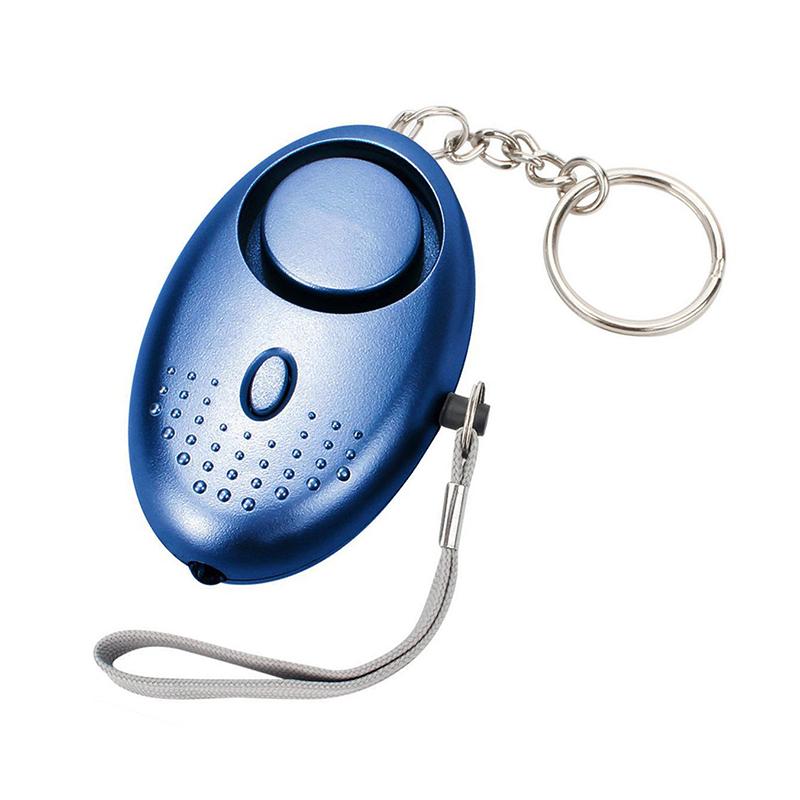 130db Personal Panic Rape Alarm Keyring Loud Sound Safety Security - Blue