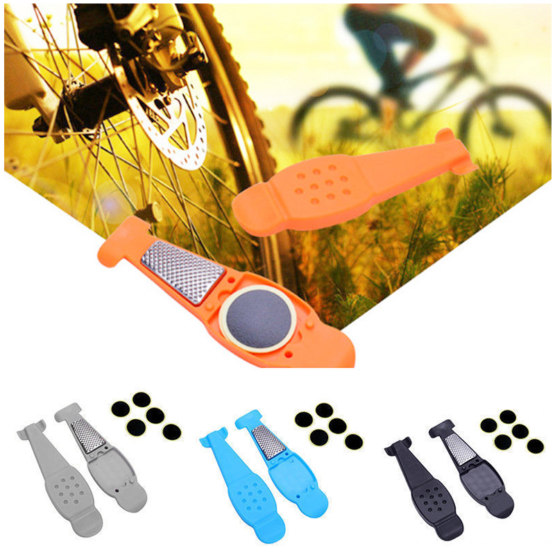 Bicycle Tire Repair Tools Kits Tyre Levers Opener Pry Bar Accessories-Gray
