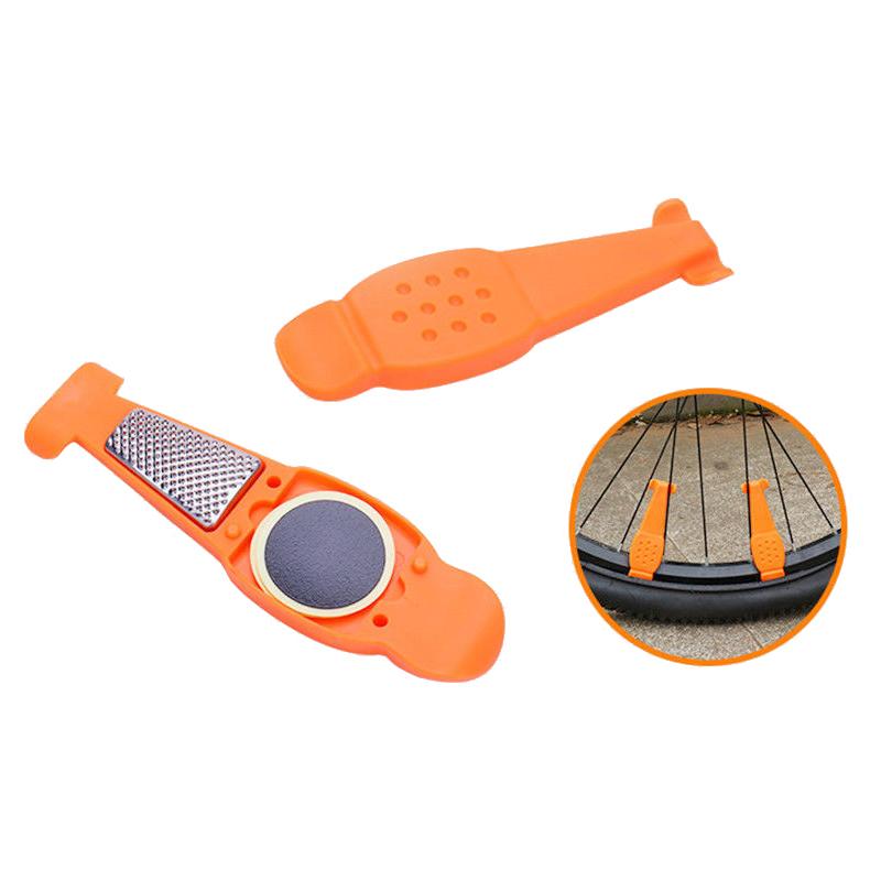 Bicycle Tire Repair Tools Kits Tyre Levers Opener Pry Bar Accessories - Orange