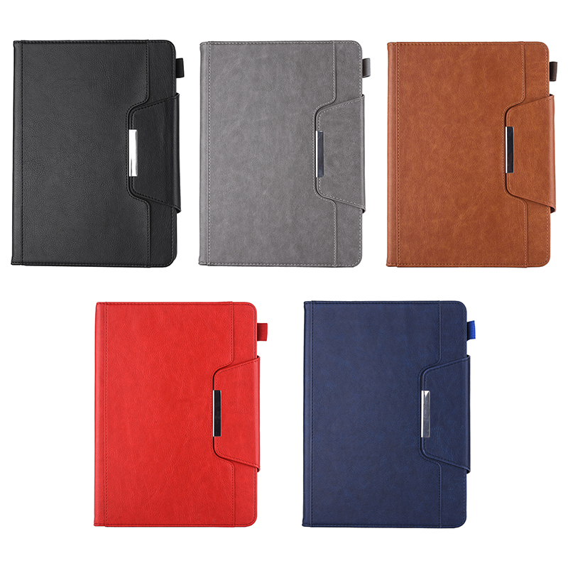 PU Leather Vintage 9.7 inch Case for IPAD5 6 7 8 9 Solid Color Protective Filp Cover Case - Red