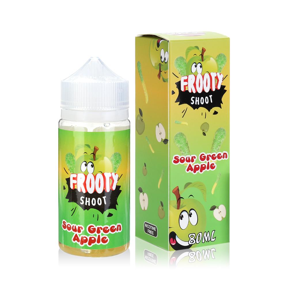 80ML 0MG E-cig E-liquid in 100ML Bottles American Eliquid-Sour Green Apple Flavour