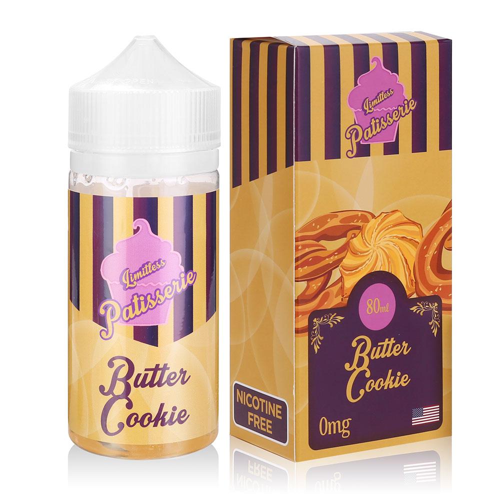 80ML Shortfill Vape Juice 0MG Butter Cookie Flavours Eliquid