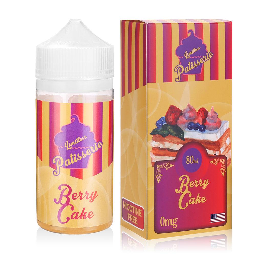 80ML Shortfill Vape Juice 0MG Berry Cake Flavours Eliquid