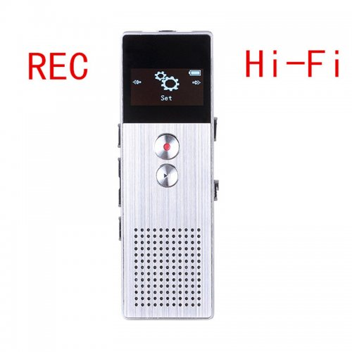 8GB Mini Digital Audio Voice Recorder Support Sound Playback with Speaker