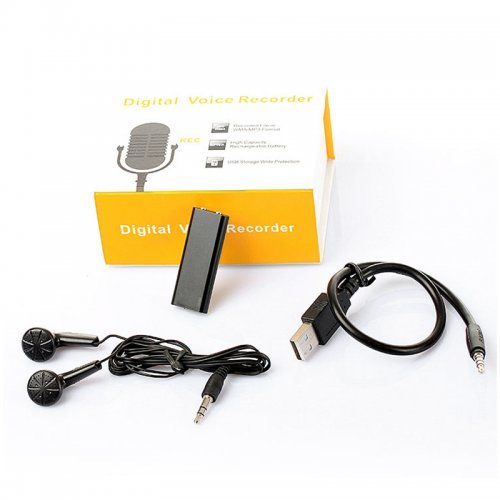 4GB Mini USB Flash Drive Multifunctional Rechargeable Digital Voice Recorder Device with MP3 Player