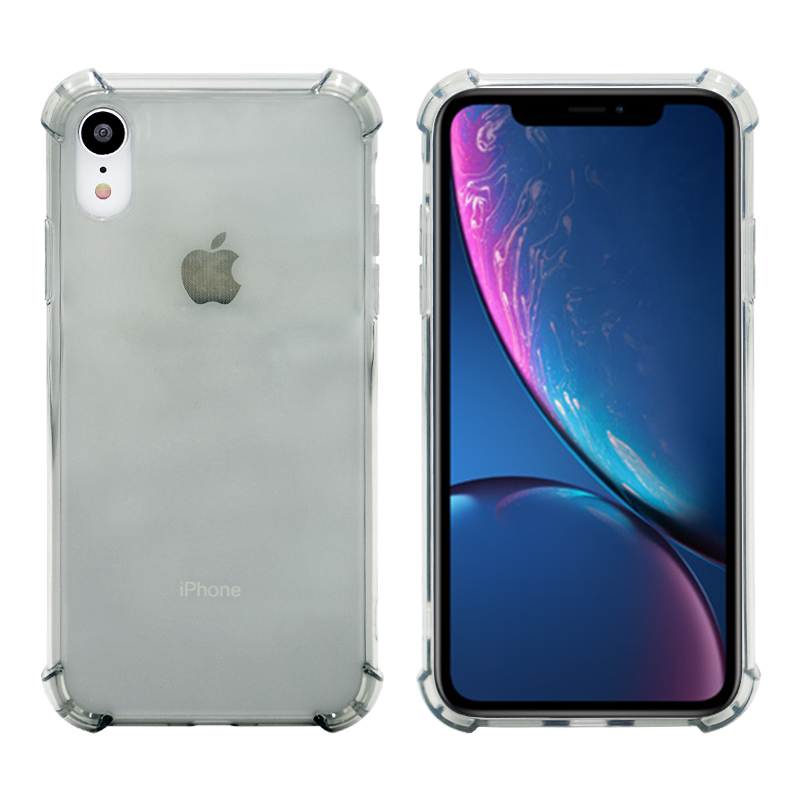 Light Weight Ultra Thin TPU Soft Silicone Phone Case Transparent Clear Protective Cover for IPhone XR-Black