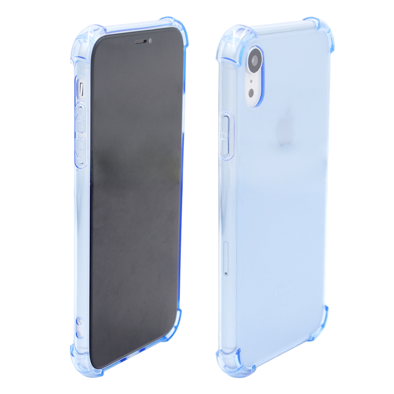 Light Weight Ultra Thin TPU Soft Silicone Phone Case Transparent Clear Protective Cover for IPhone XR-Blue