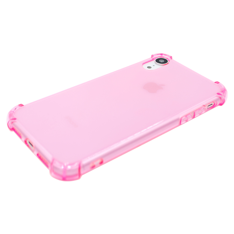 Light Weight Ultra Thin TPU Soft Silicone Phone Case Transparent Clear Protective Cover for IPhone XR-Pink