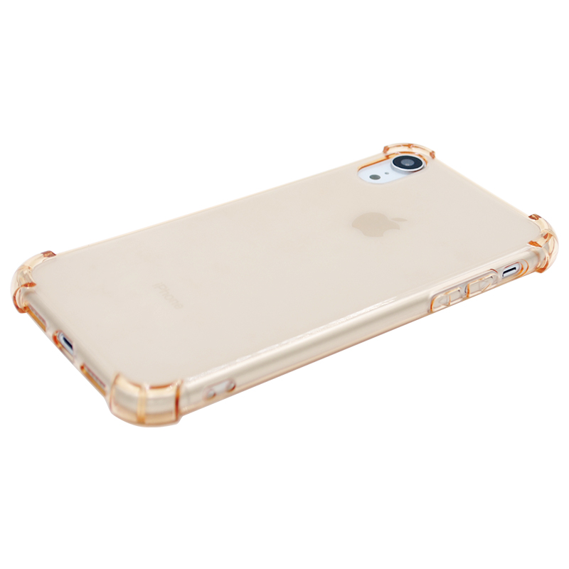 Light Weight Ultra Thin TPU Soft Silicone Phone Case Transparent Clear Protective Cover for IPhone XR-Gold