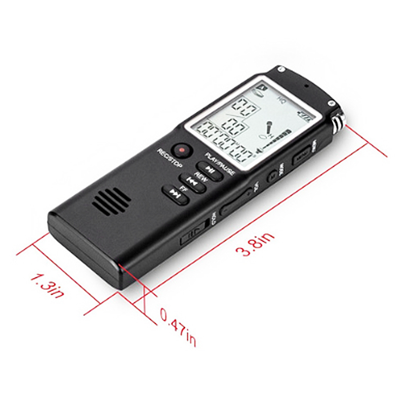 SK-301 8GB Professional USB Dictaphone Digital Audio Voice HD Recorder with MP3 Player