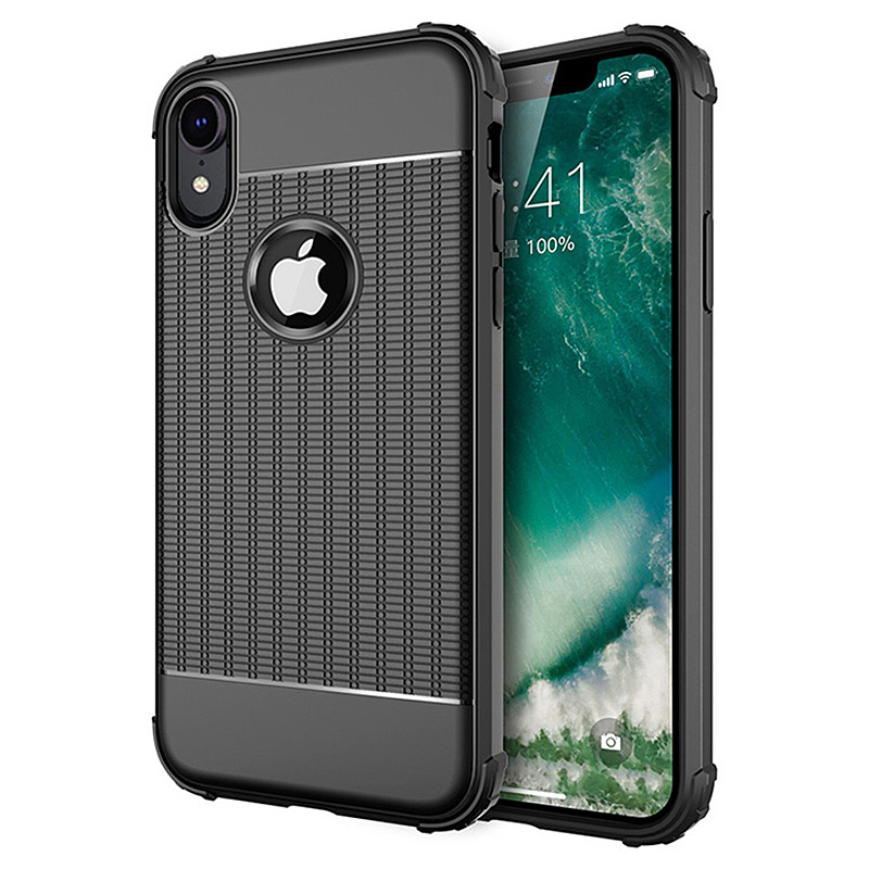 Ultra Thin Silicone TPU Gel Phone Case Cover for iPhone XR - Black