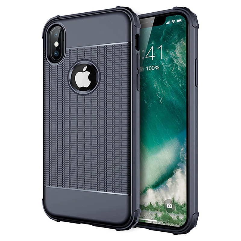 Shockproof Silicone Case Rubber TPU Gel Cover for iPhone X/XS - Blue