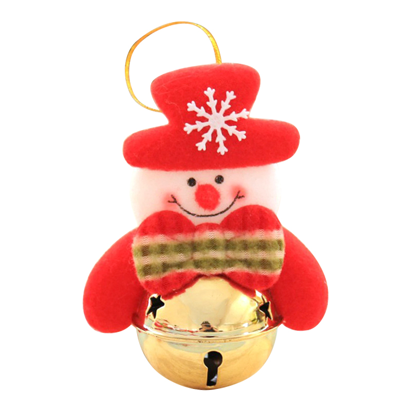 Christmas Tree Decorations Santa Claus Natal Bell Christmas Jingle Bell Pendant Hanging Decorations - Snowman A