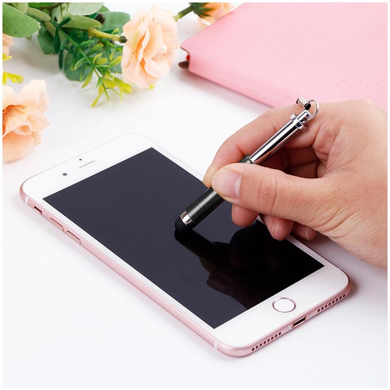 Mini Telescopic Metal Touch Screen Stylus Pen Capacitive Pen for Mobile Phone Tablet - Black
