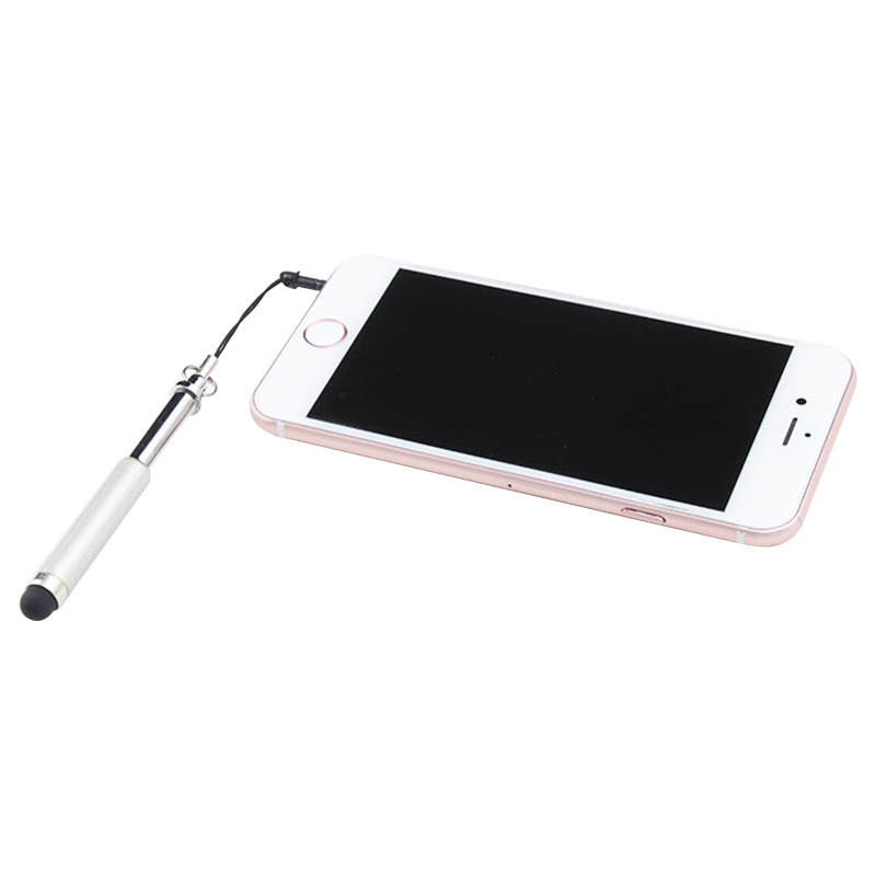 Mini Telescopic Metal Touch Screen Stylus Pen Capacitive Pen for Mobile Phone Tablet - White
