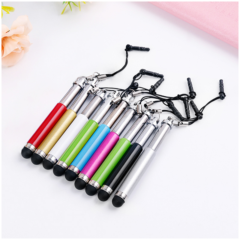 Mini Telescopic Metal Touch Screen Stylus Pen Capacitive Pen for Mobile Phone Tablet - Silver
