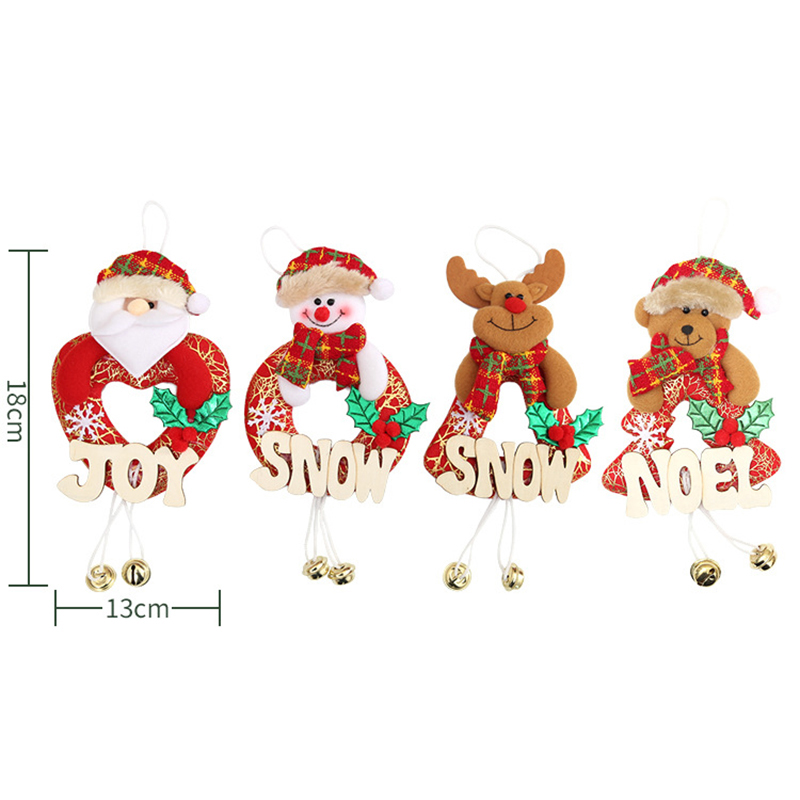 Christmas Home Furnishing Decoration Tree Ornaments Hanging Doll Letter Decor for Fireplace Window - Santa Claus