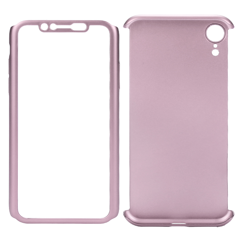 Ultra Slim Full Wrapped Protective PC Case Phone Cover for iPhone XR - Rose Gold