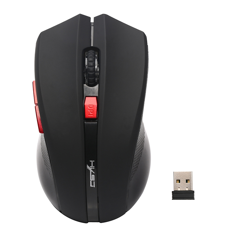 X50 2.4G Optical Mini Portable Wireless Mouse with USB Receiver - Black