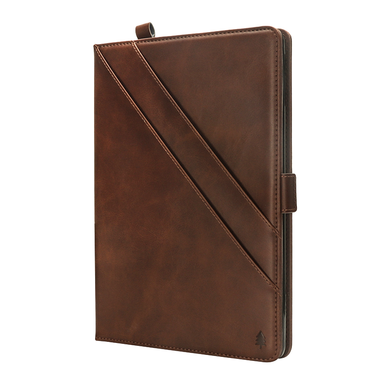 Horizontal Flip Stand Leather Case with Card Slot Photo Frame for iPad Pro 10.5'- Dark Brown