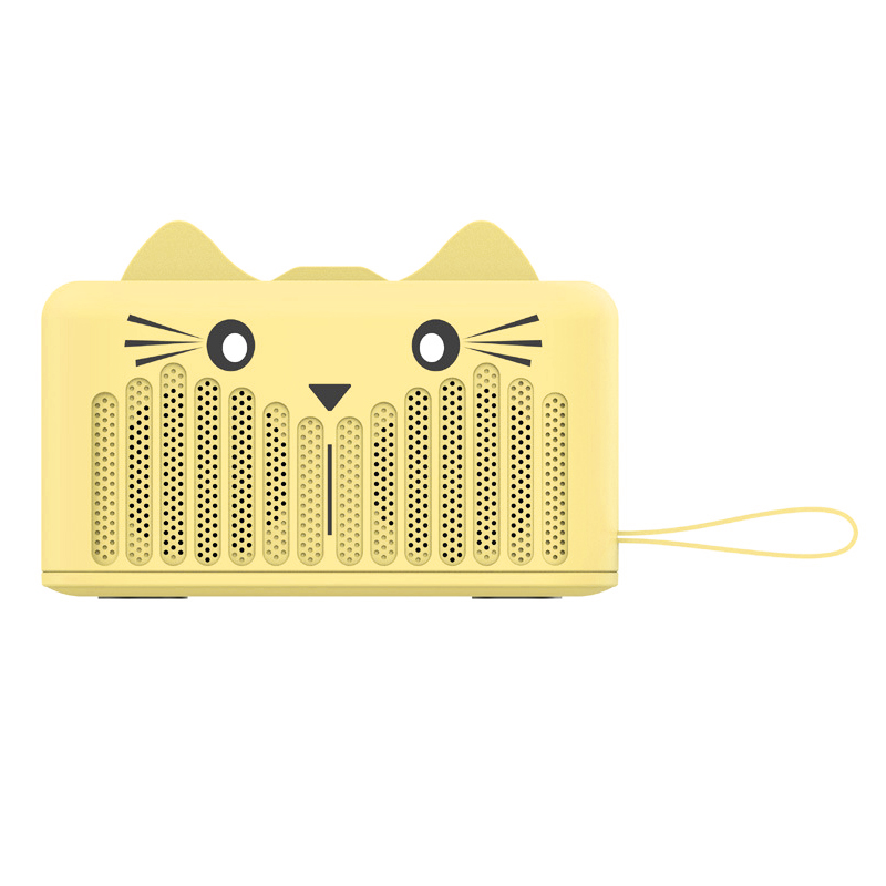 SG-05B Wireless Bluetooth Mini Speaker Stereo Audio Cartoon Cat Speaker - Yellow