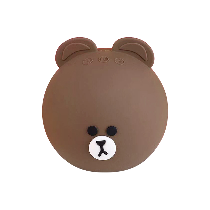 Wireless Bluetooth Mini Speaker Stereo Audio Animal Cartoon Bear Speaker - Brown