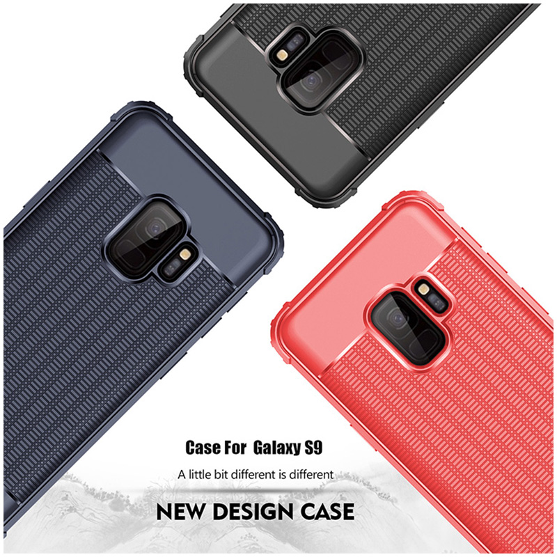 Ultra Thin TPU Soft Case Grainy Matte Phone Case for Samsung Galaxy S9 - Red