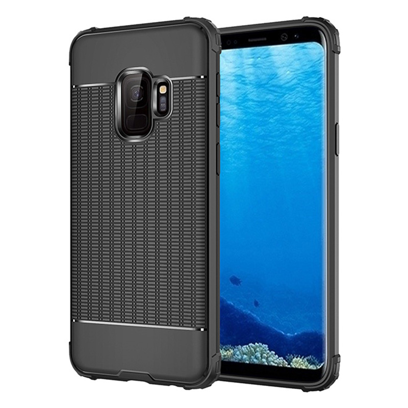 Ultra Thin TPU Soft Case Grainy Matte Phone Case for Samsung Galaxy S9 - Black