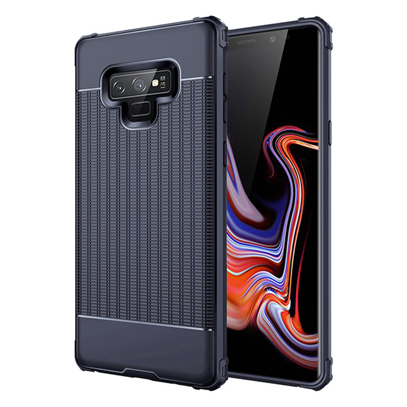 Ultra Slim TPU Soft Case Grainy Matte Phone Cover for Samsung Galaxy Note 9 - Blue