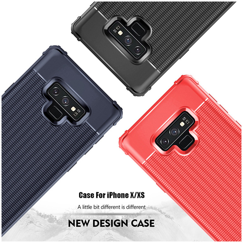 Ultra Slim TPU Soft Case Grainy Matte Phone Cover for Samsung Galaxy Note 9 - Red