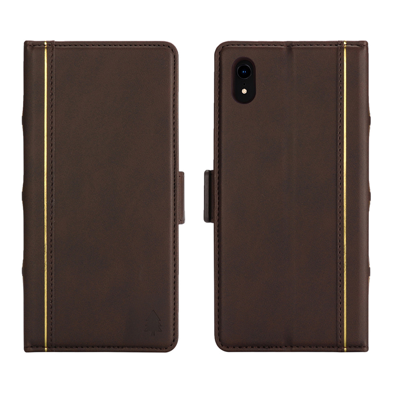 Bible Style Business Horizontal Flip Stand Wallet Leather Case for iPhone XR - Brown