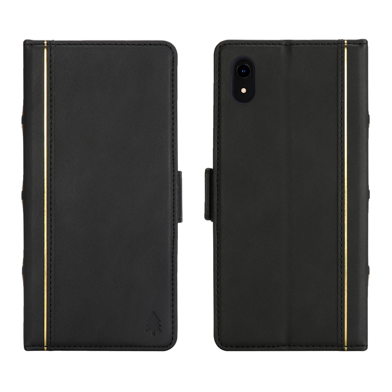 Bible Style Business Horizontal Flip Stand Wallet Leather Case for iPhone XR - Black
